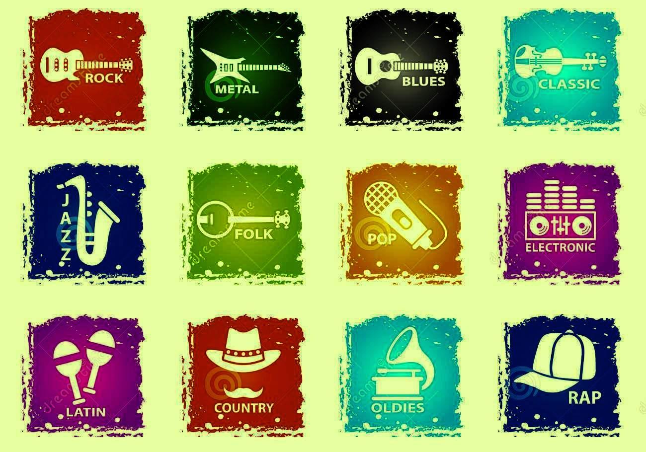 Популярные жанры музыки