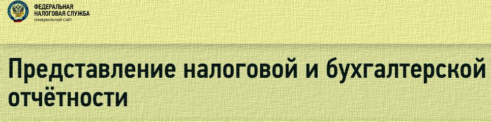 Представление налоговой и бухгалтерской отчетности на сайте ФНС России